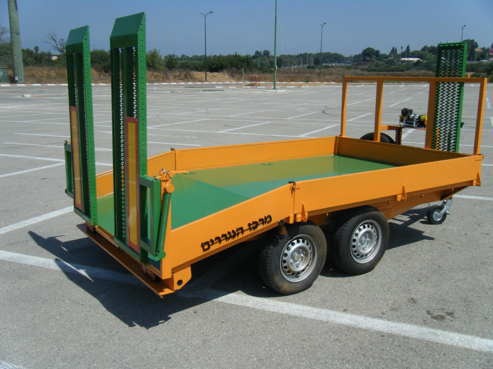נגרר פתוח - 5 גלגלים